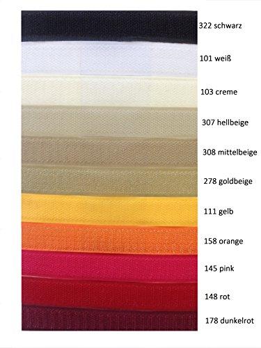Scratchs FIM à coudre - Au mètre - Largeur : 20 mm Côtés en velours et crochet inclus - Couleurs 1 à 11 148 - rot
