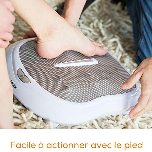 Beurer FM 60 Appareil de massage des pieds Beurer, 18 têtes de massage, fonction chaleur, 2 vitesses, massage Shiatsu pour stimuler la circulation