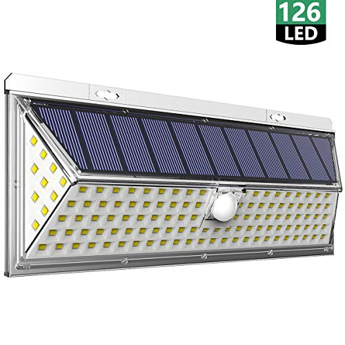 Meyoung センサーライト ソーラーライト屋外 3面発光 126LED 太陽光発電 人感センサー 転換率50%UP 防犯ライト 270°広角照明 IP65防水 人感センサーライト 屋外 玄関 駐車場 庭 ガーデンに大活躍