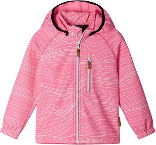 Reima Vantti Softshell Jacke Kinder neon pink Kindergröße 116 2021 Funktionsjacke