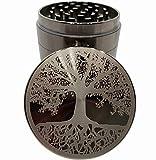 Tree of Life Etched Titanium Grinder - 4 Piece grinder Original Art 2.5' 63mm - Gift Box (Tree of Life)