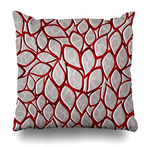 Yuanmeiju Decorativepillows Case Throw Pillows Covers For Couch/Bed Damask Vintage Ornament Use ing Packaging Paper Home Sofa Cushion Cover Funda de Almohada Gift 20x20 Inches