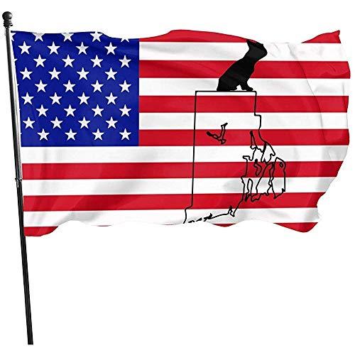 150x90cm Garden Flag French Bulldog Rhode Island Breeze Flag Yard Flag Yard Banner Single Layer Yard Flag Garden Flag 150X90Cm