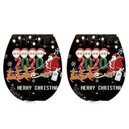 VALICLUD 2 Pegatinas navideñas para Inodoro, Pegatinas navideñas para Nevera, Pegatinas para Ventana de Dibujos Animados () Regalo
