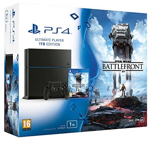 Console PlayStation 4 1 To Jet Black + Star Wars : battlefront