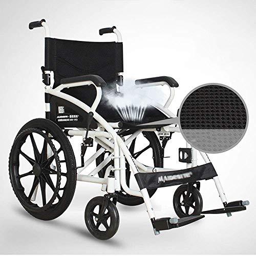Leeftijd eenvoudige rolstoel - geen opblaasbaar vouwmechanisme handmatig leeftijd eenvoudige rolstoel draagbaar Oudere gehandicapte reizen trolley Leeftijd Eenvoud rolstoel afmetingen: 91 x 106.5 x 70 cm - leeftijd eenvoud