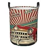 Großer Wäschekorb, faltbar, Vintage-Stil, Auto,