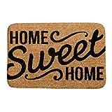 Felpudo para interior de fácil limpieza Sweet Home – Alfombra de baño antideslizante suave de forro polar coral, tela, multicolor, 31 x 20 inch