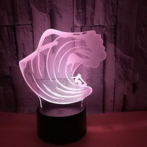 7 Farbkonvertierung 3d Licht Touch-Gerät 3D Nachtlicht Weihnachtsgeschenk zu Licht | Illusionsraumbeleuchtung Spielgeschenk