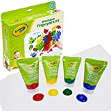 Product Image of the Crayola My First Finger Paint For Toddlers, Painting Paper, Kids Indoor...