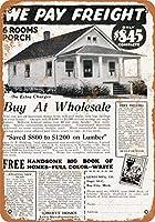 2個 20 * 30CMメタルサイン-1930年の家全体が845ドルであなたに届けられました メタルプレート レトロ アメリカン ブリキ 看板