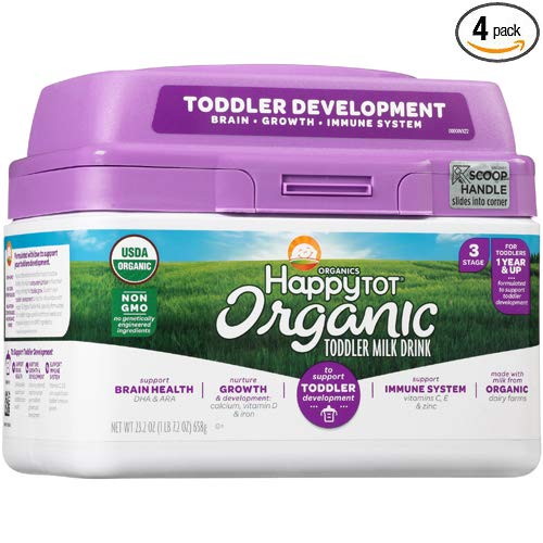 Happy Tot Organic Toddler Milk, 23.2 Ounce - 4 Pack