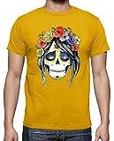 latostadora - Camiseta Catrina para Hombre Amarillo Mostaza 3XL