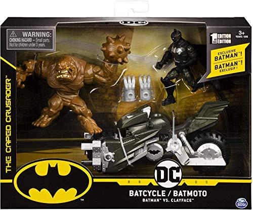 スピンマスター DCコミックス 4インチ デラックス アクションフィギュア ビークルパック バットマン vs クレイフェイス with バットサイクル / SPIN MASTER 2020 DC COMICS 4inch VEHICLE PACK BATM
