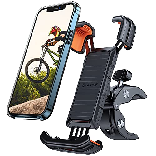 andobil Handyhalterung Fahrrad [ Vollständiger Schutz & Anti-Shake ] 2021 Patent Design Handyhalterung Motorrad Universal 360° Drehbar Handy Fahrradhalterung für iPhone 12/11,Samsung 21/20,Huawei usw