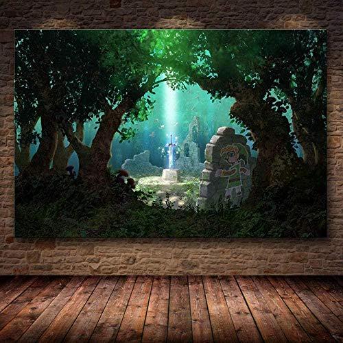 XINTONG Puzzle di Pittura Artistica Puzzle Puzzle di Legend of Zelda Giochi Puzzle di Legno 1000 Pezzi per Bambini Decorazione della Stanza Puzzle Senza Cornice
