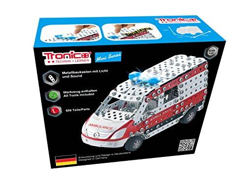 TRONICO Metallbaukasten Krankenwagen Notarzt 508 Konstruktionsspielzeug - Mint - STEM - Modellbau - Bauen mit Werkzeug