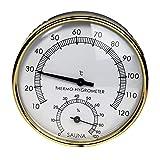 Wonderfulrita Tallde Saunathermometer Feuchtetemperaturmessgerät Hygrometer Metallzifferblatt Innenraumzubehör -