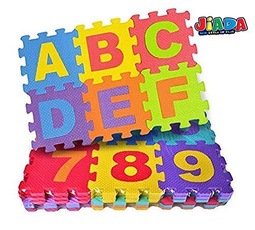 JIADA 36Pcs Alphabet Numeral Foam Mat Education Toys Developmental Intelligence Toy for Kids Puzzle Educational Learning Toy