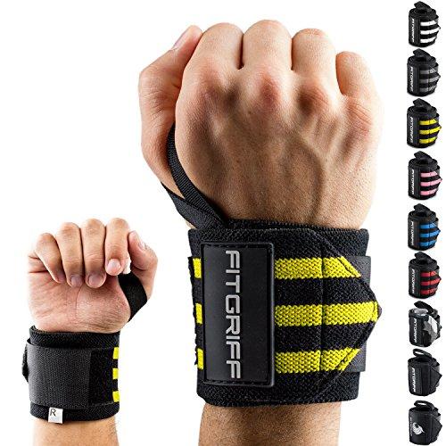 Fitgriff® Muñequeras Gym, Deportivas, Musculación, Gimnasio, Calistenia, Wrist Wraps - Mujer...
