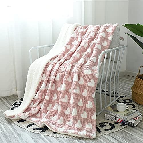 DUYH Manta Doble con Estampado de Cachemira, Mantas de Sofá , Mantas para la Siesta de Oficina, Mantas para Aire Acondicionado, Suave, Ligero y Cálido.130x160cm (Rosa)