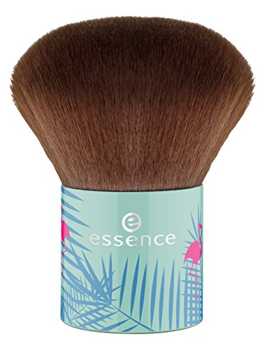 Essence #secret party Kabuki Brush Professioneller Puderpinsel mit weichem Haar für das perfekte Auftragen von losem & gepresstem Puder. Pinsel Brush 1Stück