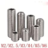 50Pcs DIN916 M2 M2.5 M3 M4 M5 M6 M8 Tornillos de aleta de tabla de surf de acero inoxidable 304 Tornillo de cabeza hexagonal interior Juego de tornillos, 8 mm, M3 50PCS