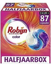 Robijn Color Wasmiddel 3-in-1 Wascapsules - 3 x 29 Wasbeurten - Halfjaarbox