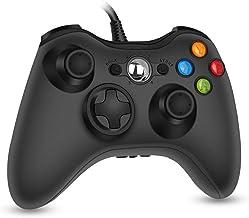 RegeMoudal Xbox 360 PC Controller بازی Wired برای Microsoft Xbox 360 و Windows PC (Windows 10 / 8.1 / 8/7) با Dual Vibration و Ergonomic Wired Controller بازی.