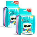 Fit + Fresh Cool Coolers Slim Ice Packs, Reusable Ice Packs for Lunch Bags, Beach Bags, Coolers, and More, Set of 8, Multicolored