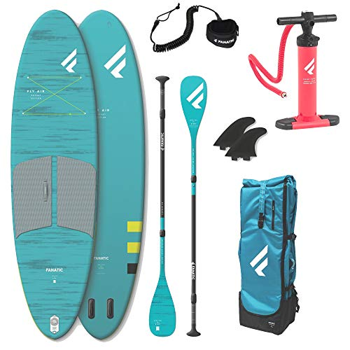Fanatic Fly AIR Pocket 10.4 Stand up Paddle Board, geringerem Packmaß SUP Carbon 35 Paddel