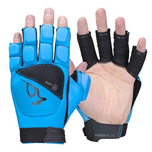 KOOKABURRA Xenon Plus Hockey Handguards, blau, Medium Left Hand