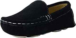 WUIWUIYU Baby Boys' Girls' Suede Slip-On Loafers Flats Moccasins Comfort Casual Shoes (Toddler/Little Kid)
