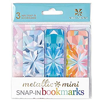 Erin Condren Designer Accessories Snap - in Mini Bookmarks Trio for Erin Condren Planners - Kaleidoscope Design Theme Compatible with Spiral Notebooks Planners or Agendas
