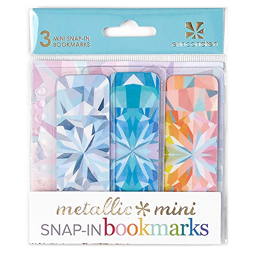 Erin Condren Designer Accessories Snap - in Mini Bookmarks Trio for Erin Condren Planners - Kaleidoscope Design Theme. Compatible with Spiral Notebooks, Planners, or Agendas