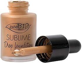 PUROBIO - Sublime Drop Foundation - Base líquida biológica 06 - con extractos de Argan - Textura ligera y cubriente