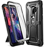 YOUMAKER Designed for Galaxy S9 Plus Case, Heavy Duty Protection Kickstand with Built-in Screen Protector Shockproof Case Cover for Samsung Galaxy S9 Plus 6.2 inch - Black
