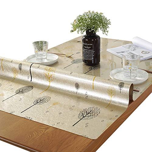 LKH Mantel Antimanchas Rectangular, Protector De Mantel De PVC Resistente Al Agua Y Anti Escaldado para Decoración De Mesa De Cocina/Comedor/Café/Banquete(Color:Segundo,Size:70×130cm)