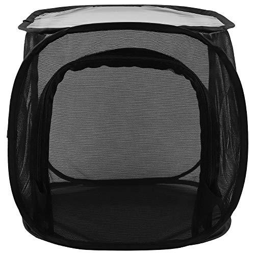 Wifehelper Cage d'élevage Pliable Portable et ventilée Noir Protège Vos Plantes Papillon et Insectes