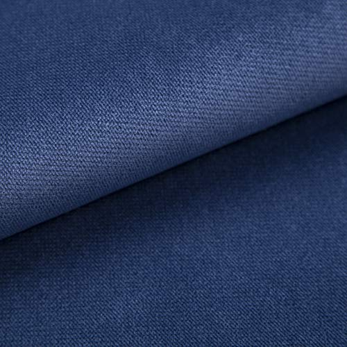 Velvet Krono, weich und elegant, Samtstoff, Möbelstoff, Polsterstoff Möbel Sitzbezug Stoff, Meterware - Blau 05