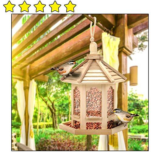 AMhomely Hängende Futterstation, wasserdichte Vogelfutter Futterspender Vogel Fütterung Vogel Futterhaus für Wildvögel Vogelhaus, Vogelfutterstation, Futterhaus, Vogelhäuschen Gartenzubehör (✿)