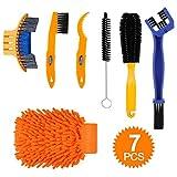 TAGVO Set di spazzole per la Pulizia della Bici, 7 Pezzi, Kit Completo di Pulizia della Bi...