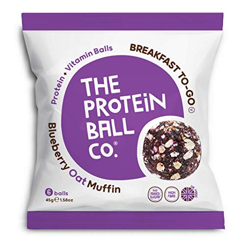 Protein Ball co Blueberry Oat Muffin Plus Vitamin Balls, 45 g
