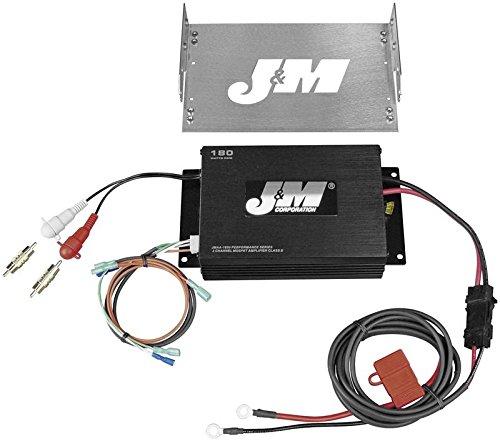J&M Perf 180w 2-Channel Amp Kit for Harley Davidson 1998-2013 Street Glide/Ultr - One Size