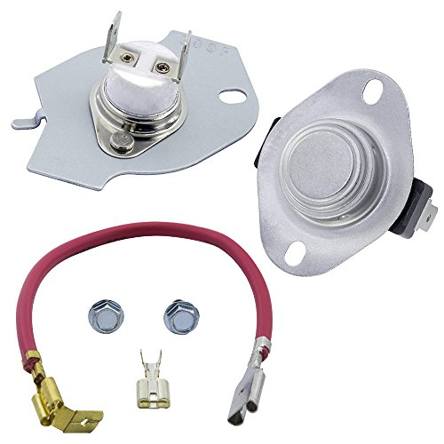 OxoxO 279816 - Kit de termostato para Secadora (Ajuste Exacto Whirlpool & Kenmore, sustituye a 3399848 3977393 AP3094244)