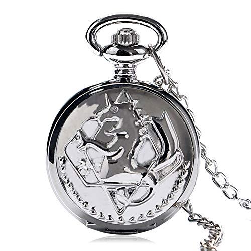 JLyshop Taschenuhr für Herren, klassische Fullmetal-Alchemist Cosplay Edward Taschenuhr, Geschenk für Herren