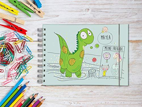 Freundebuch für Kindergarten PERSONALISIERT Dino