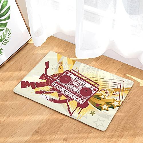 OPLJ Felpudo de Bienvenida con impresión de cámara 3D, Alfombrilla Antideslizante de Cocina, Alfombra Absorbente de baño, Felpudo de Entrada Interior para el hogar A9 40x60cm