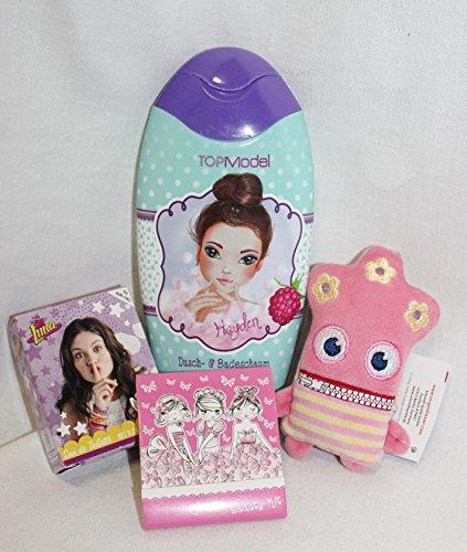 Unbekannt 110113 Geschenk Set Topmodel Badeschaum mit Sorgenfresser Lotti als Geschenk verpackt für Mädchen mit Mini Kinder Parfum