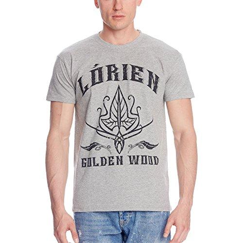 Herr der Ringe T-Shirt Lorien Lothlorien von Elbenwald grau - XXL